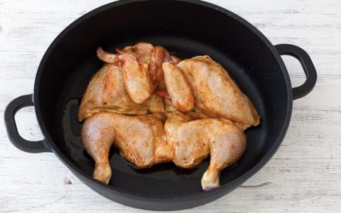 pollo alla diavola spennellato con la salsina