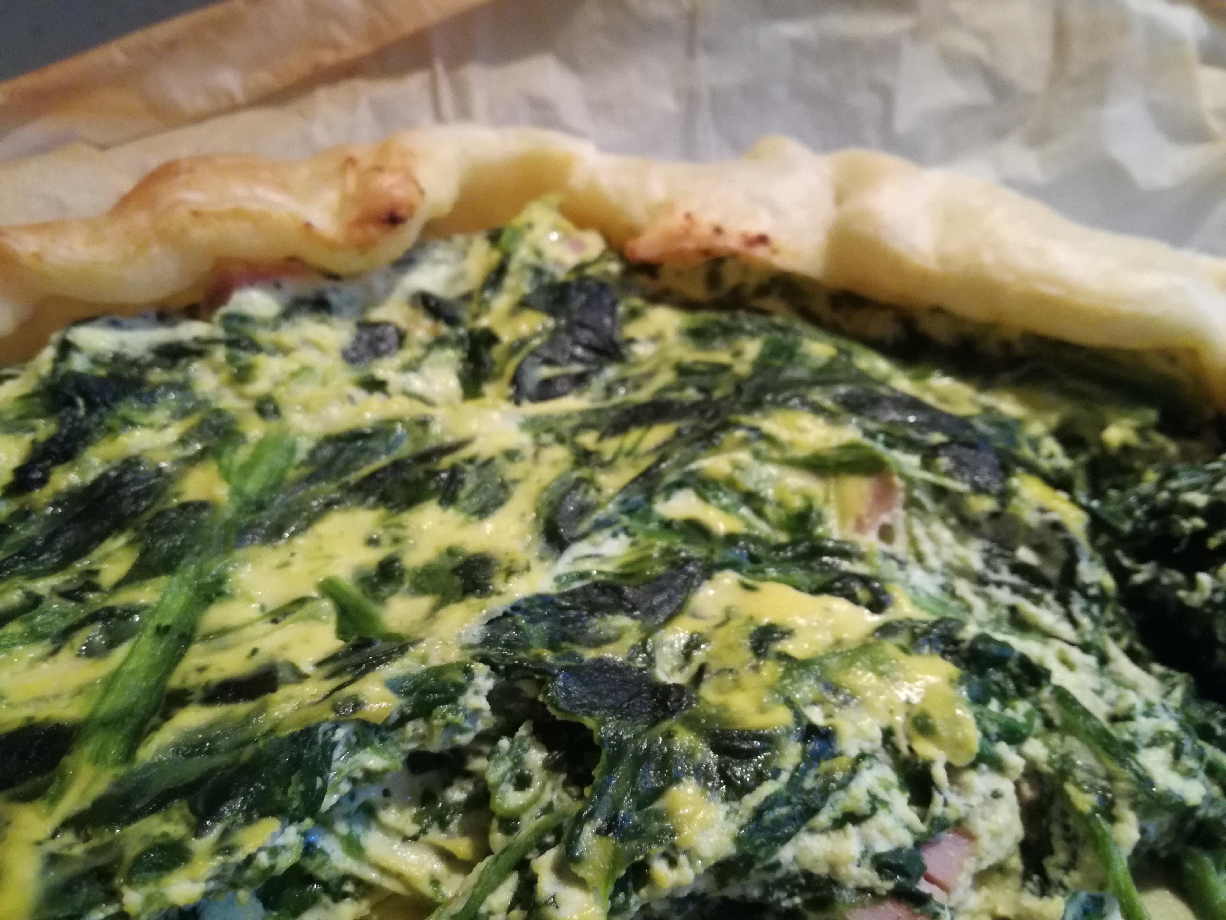 torta salata spinaci e prosciutto