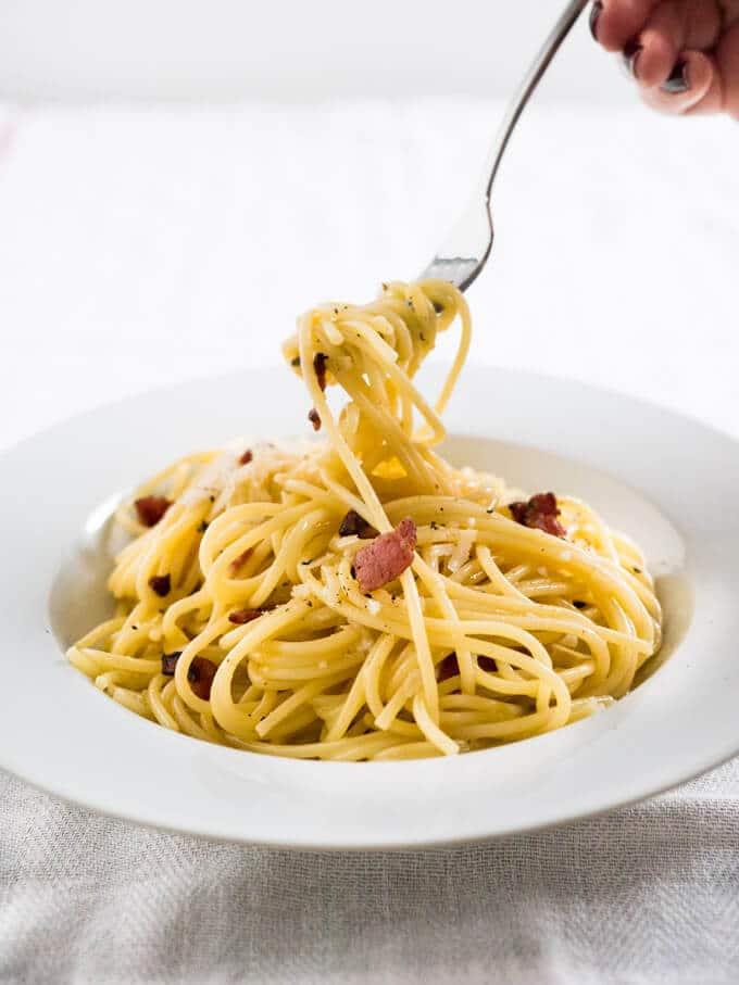 spaghetti alla carbonara piccanti