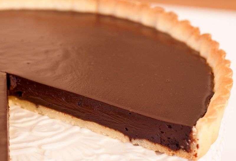 crostata al cioccolato piccante