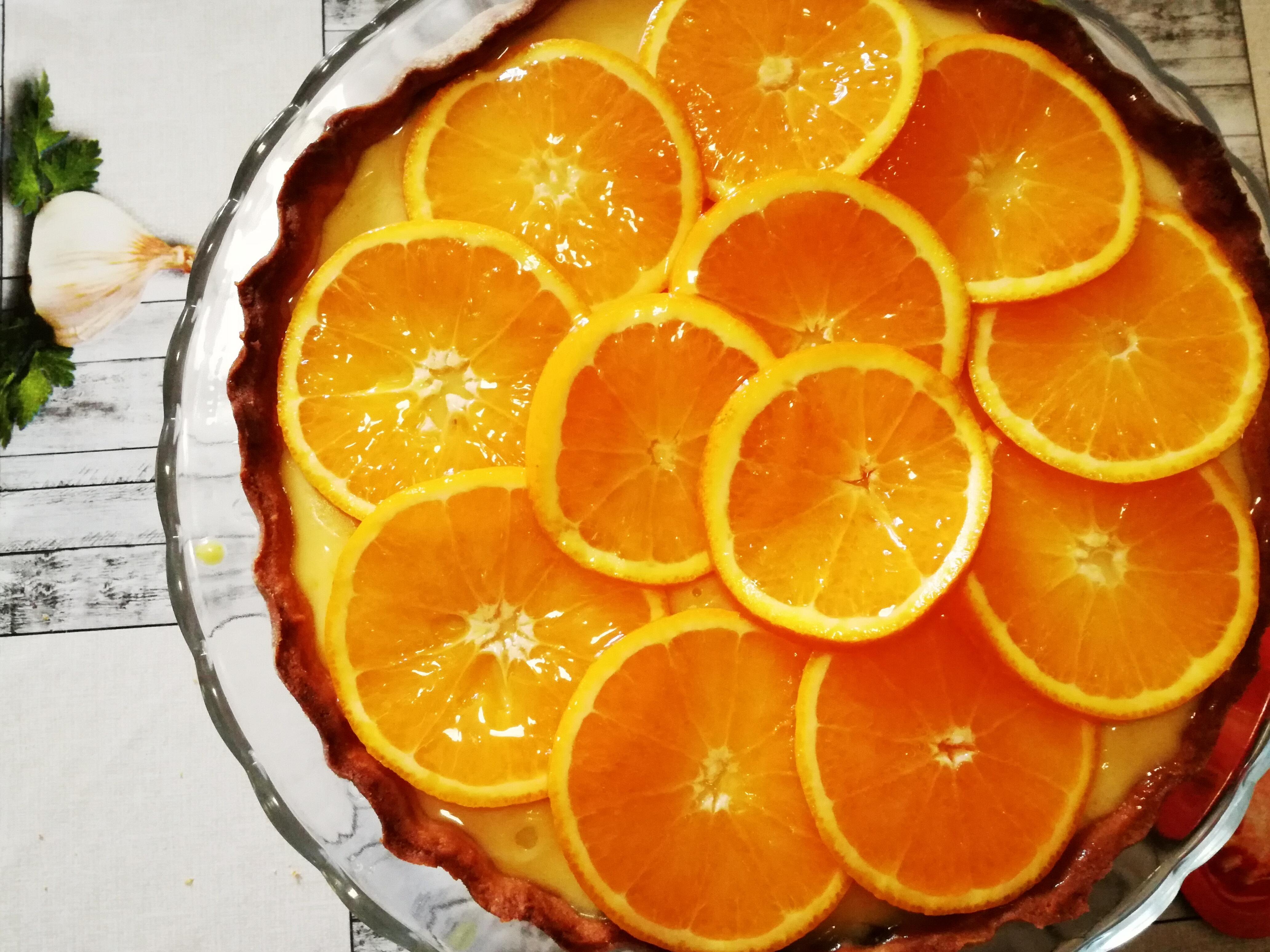 crostata con crema arancia piccante