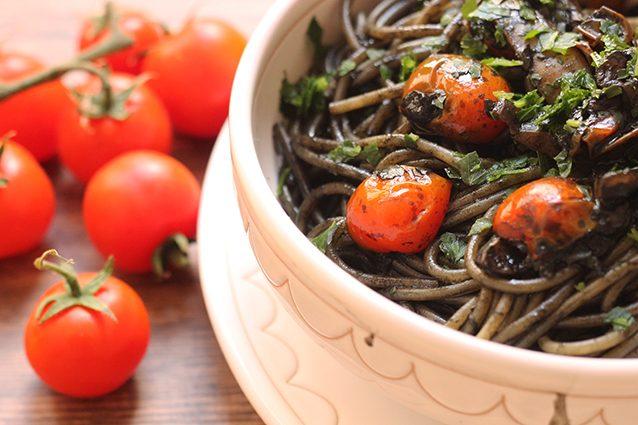 spaghetti nero di seppia piccanti
