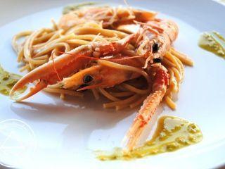 spaghetti agli scampi piccanti