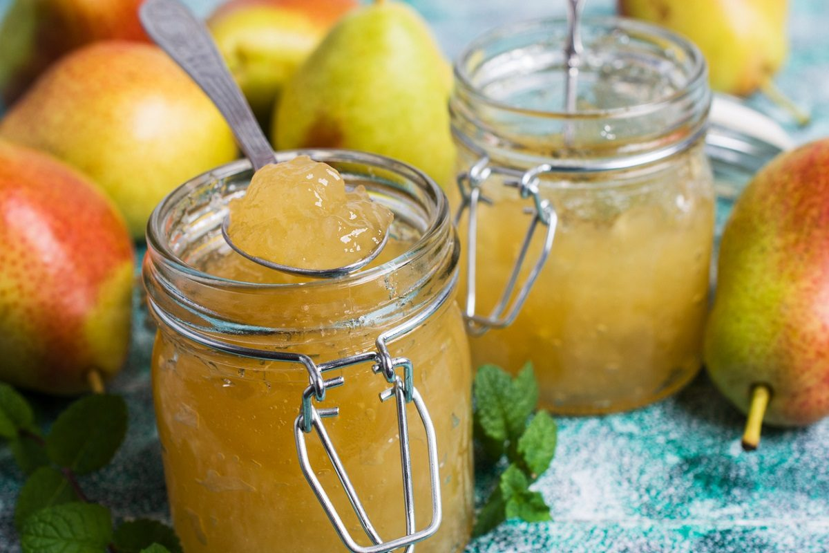 confettura di pere e scorze di limone